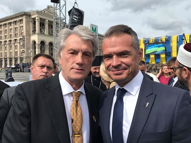 """Sławomir Nowak na obchodach Dnia Niepodległości Ukrainy. """"Miłe spotkanie z Juszczenko"""""""
