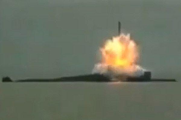 Kilka lat temu przeprowadzono również próbę rakiety - kadr z nagrania zamieszczonego w serwisie YouTube