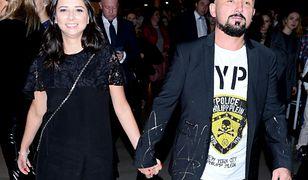 Patryk Vega ze swoją żoną Katarzyną Słomińską
