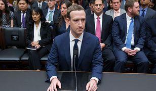 Mark Zuckerberg podczas przesłuchania w Izbie Reprezentantów Stanów Zjednoczonych