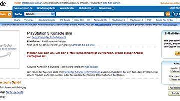 PlayStation 3 Konsole slim na Amazon.de