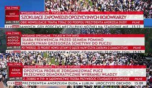 Obywatele RP organizują konkurs na najlepszy pasek TVP. Do wygrania wejście na teren Sejmu