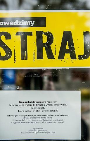 Strajk nauczycieli zagraża egzaminom maturalnym