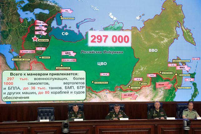 Rosyjskie ministerstwo obrony twierdzi, że to największe manewry od ponad 35 lat