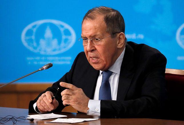 Szef rosyjskiej dyplomacji Siergiej Ławrow