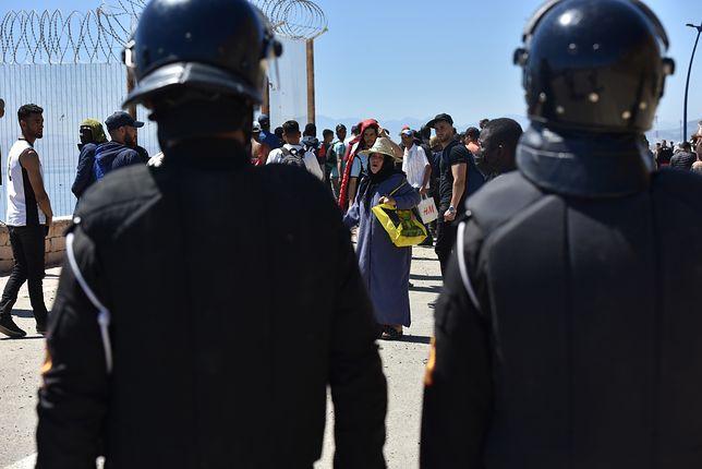 Maroko. Zamieszki na granicy z Ceutą
