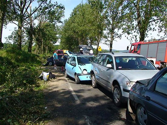 Karambol na Dolnym Śląsku - zderzyło się 12 aut