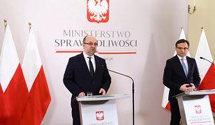 Na zdjęciu były wiceminister Łukasz Piebiak oraz szef resortu Zbigniew Ziobro