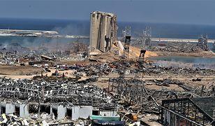 Miejsce, w którym doszło do wybuchu w Bejrucie, stolicy Libanu