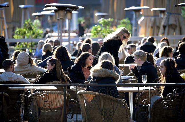 Pomimo pandemii koronawirusa, restauracje w Sztokholmie były w zeszłym tygodniu pełne