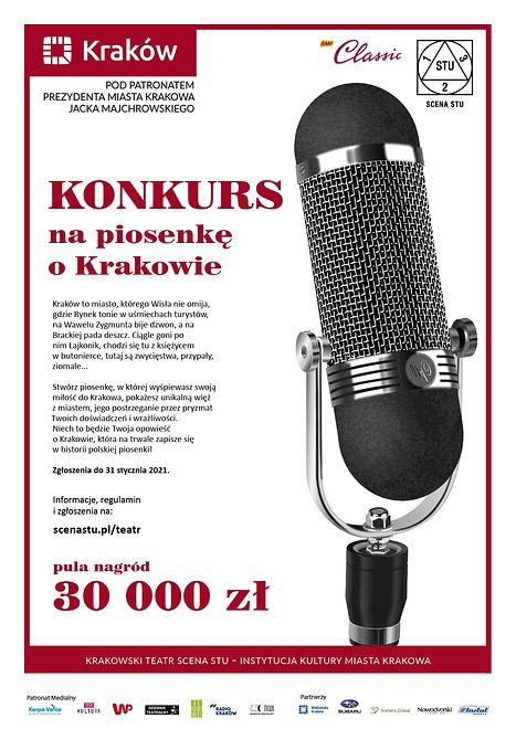 Przedłużamy termin zgłoszeń w Konkursie na Piosenkę o Krakowie!