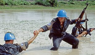 Polscy żołnierze podczas misji ONZ w Kambodży