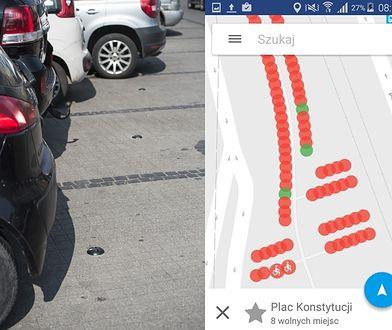 Ściągnij aplikację i znajdź wolne miejsce na parkingu