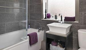 Szara łazienka - dostojna i nowoczesna