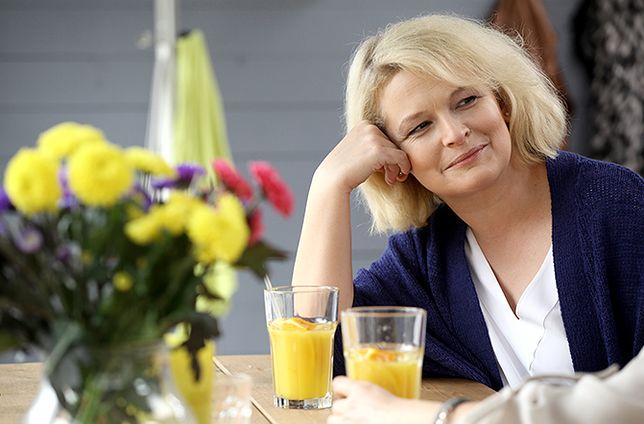 Ostałowska pojawiła się na planie serialu.