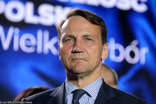 Radosław Sikorski pogratulował politycznym oponentom zwycięstwa