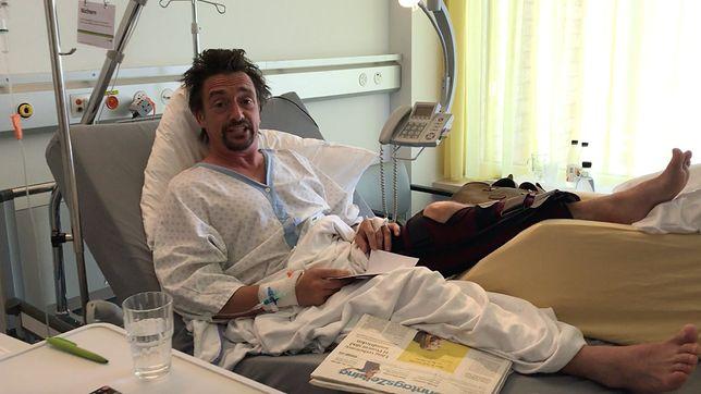 Richard Hammond pokazał filmik ze szpitala. Wczoraj omal nie zginął, dziś pije gin i żartuje