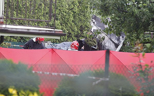 Wypadek awionetki w Bielsku-Białej