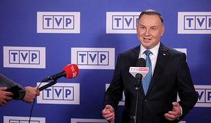 Prezydent Andrzej Duda po debacie w studio TVP.