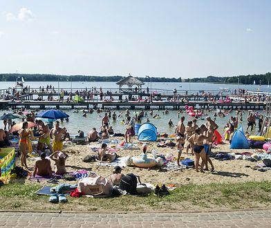 Najgorętsze jezioro w Polsce. Po fali upałów woda ciepła jak zupa