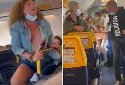 Włoszka opluła inną pasażerkę w samolocie i nie chciała wysiąść. Nagranie hitem sieci