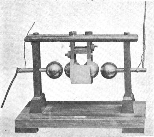 Iskiernik autorstwa Augusto Righita wykorzystywany przez Marconiego