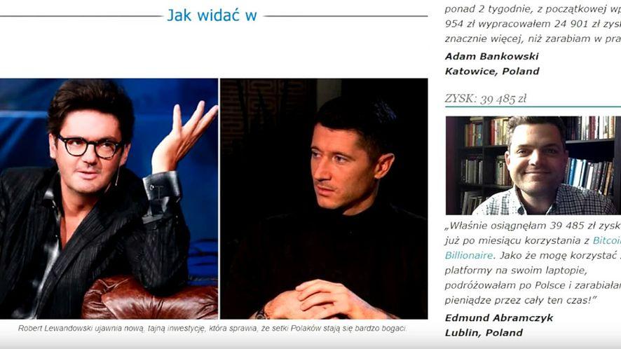 Oszustwo na Roberta Lewandowskiego i jego schemat (fot. YouTube)