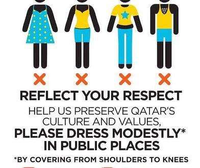 Mundial 2022: Grafiki z zaleceniami ubioru dla kobiet