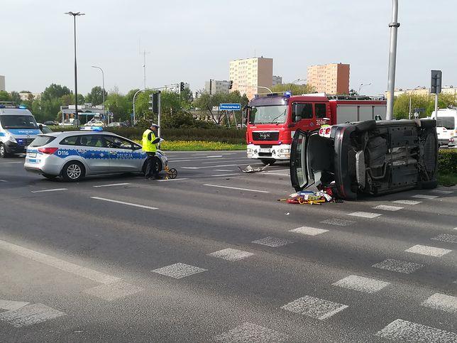 Zdarzenie spowodowało korki w centrum Lublina