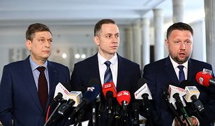 Koalicja Europejska po wyborach. Posłowie Mariusz Witczak, Cezary Tomczyk i Marcin Kierwiński