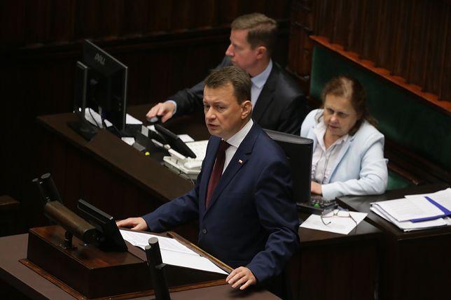 Mariusz Błaszczak z sejmowej mównicy bezpośrednio zwrócił się do Grzegorza Schetyny i Andrzeja Halickiego