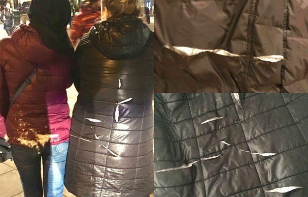 Zniszczone kurtki po demonstracji 10 marca 2017 roku