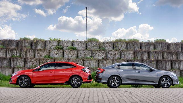 Honda Civic Sedan (po prawej) i Hatchback / fot. Mariusz Zmysłowski