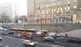 Warszawa. Stłuczka dwóch autobusów. Są poszkodowani