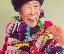 93-latka nietypową modelką u swojej wnuczki