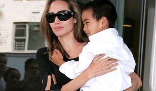 Angelina Jolie i Maddox w 2007 r.