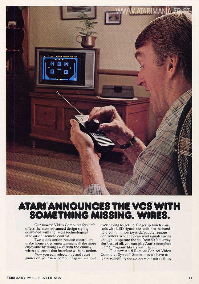 Reklama Atari 2700 jaka miała znaleźć się w prasie.