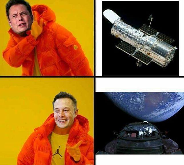 Tesla lata w kosmosie - zebraliśmy dla was najlepsze memy