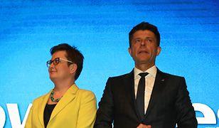 Katarzyna Lubnauer i Ryszard Petru podczas konwencji Krajowej Nowoczesnej