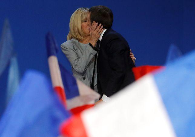 Emmanuel Macron i jego żona Brigitte