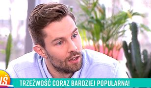 Zszokowany Jacek Bilczyński po pytaniu o okoliczności odstawienia przez niego alkoholu.