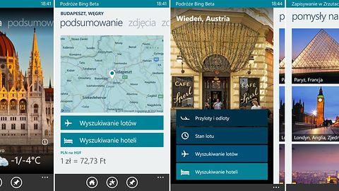 Zaplanuj wycieczkę z Podróże Bing Beta na Windows Phone