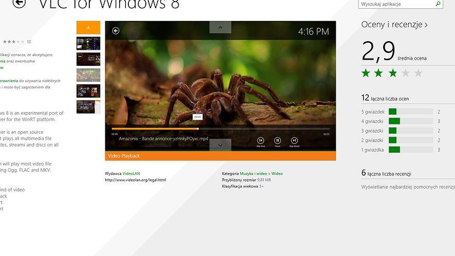 Beta kafelkowego VLC już jest w Windows Store, o rok za późno i na razie nie dla ARM-ów