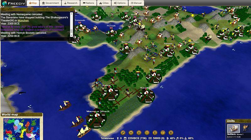 Darmowa Cywilizacja w 3D: przeglądarkowa wersja Freeciv korzysta już z WebGL