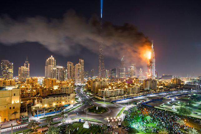 Tak płonął luksusowy hotel w Dubaju