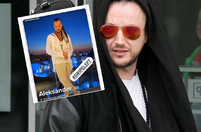 """Aleksander Baron pokazał """"swoje"""" konto na Tinderze. Ktoś się podszył pod muzyka"""