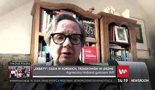 "Agnieszka Holland o debacie prezydenckiej. ""TVP robi ustawkę"""