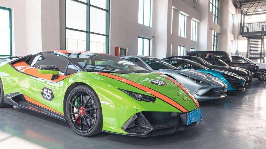 Samochody należące do chińskiej szajki