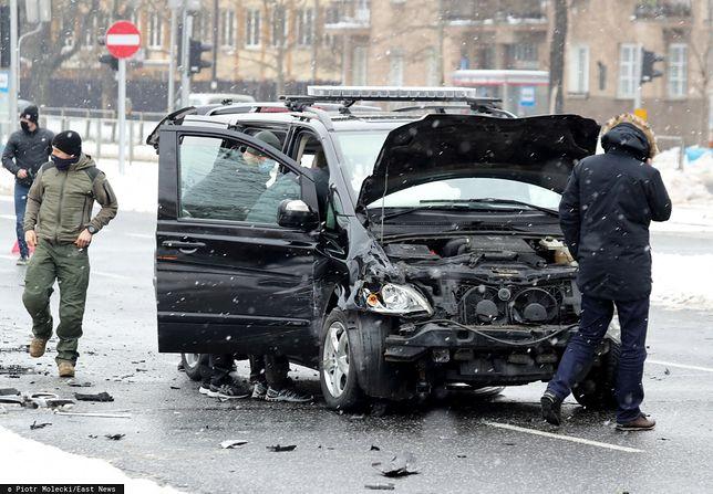 Wypadek samochodu SOP