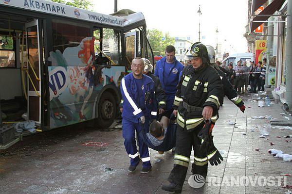 26 osób rannych w wypadku drogowym w centrum Petersburga